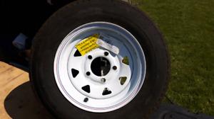 5.30×12  5 bolt trailer rim/tire