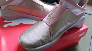 Puma fierce metallic 9.5 rose gold sneakers