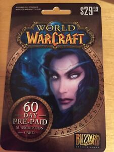 World of Warcraft Subscription Card