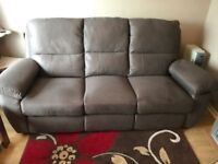 3 seater and 2 seater recliner sofa