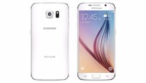 White 32gb Samsung Galaxy S6 w/ Case and Glass Screen Protector
