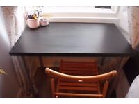 THIS WEEKEND! IKEA Desk 100x60cm Black top and Silver Legs Hardly Used Glasgow
