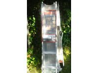 2 Section Aluminium Loft Ladder 2.6m ceiling height. Never used .as new ,still in polythene package