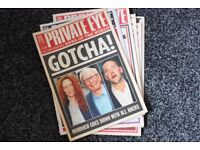 Private Eye magazines collection.