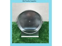 NEW CHICKEN POULTRY GALVANISED METAL DRINKING BUCKET 1.6 GALLON WITH HANDLE