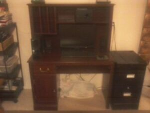 Computer Chair, Desk and Filing Cabinet