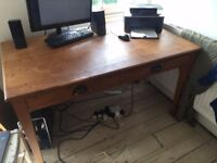 Beautiful old wooden desk with drawers