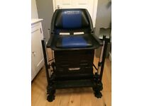 preston innovations xs6 seatbox and onbox folding backrest chair