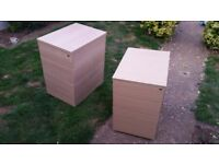 drawers, office drawers, light wood, bedside drawers