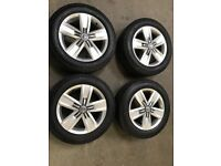 "VW GENUINE 17"" DEVONPORT ALLOYS & FACTORY FITTED TYRES FOR T5/T6 TRANSPORTER X4"