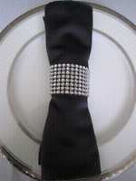 170 Rhinestone Napkin Rings For Sale