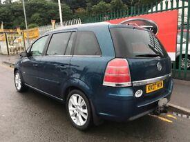 2007 (07 reg) Vauxhall Zafira 1.9 CDTi 16v Design 5dr Turbo Diesel 6 Speed Manual