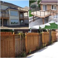 Experienced deck builders