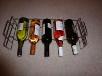 Chrome Wine Rack for 5 Bottles