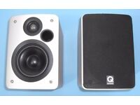 1 Pair of Q Acoustics 1010 Beech Bookshelf Speakers