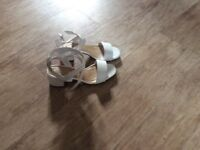 Girl's New Look white sandals. Size 1