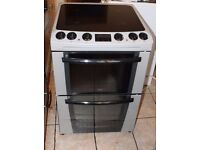 6 MONTHS WARRANTY Silver Zanussi 60cm,AA energy arted electric cooker FREE DELIVERY