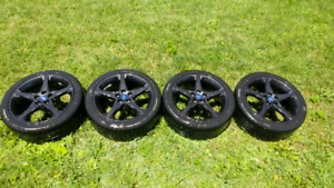 5x108 bolt pattern rims w/ tpms and 235 40 18 tires from focus