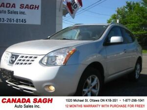 2008 Nissan Rogue SL, ROOF/LOADED 158km, 12M.WRTY+SAFETY $6990