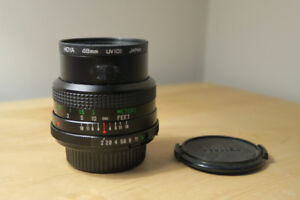 Vivitar 28mm f/2 f/2.0 Close Focus Wide Angle lens Minolta MD