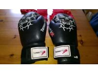 leather 12oz Turner Max Boxing /martial arts gloves with inner glove wrist rapping