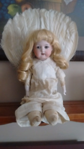 Antique Victorian German Porcelain and Cloth Jointed Doll