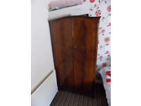 Antique wardrobe and dressing table.