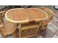 cane table set good condition only £15.00