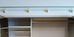 Glass Bedroom Shelf - Floating