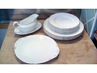 Various Pieces - Royal Standard Fine Bone China - Pure White with Gold Rim