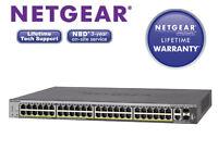 Details about NETGEAR ProSAFE S3300-52X - switch 52 ports-smart-rack-mountable LIFETIME