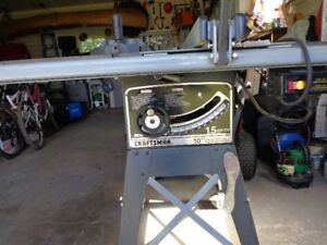 """Sears Heavy Duty Table Saw 10"""" belt drive 1.5 HP with stand."""