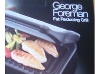 George Foreman family size grill new and unused. Boxed with 2 year guarantee.
