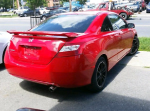 2007 red honda civic coupe automatic