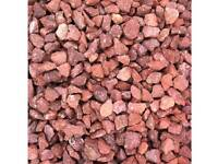 Red granite chipping 20mm half bulk bag
