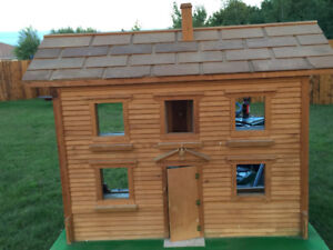 Wooden miniature house - hand crafted