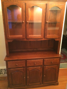 Solid Oak Hutch and buffet