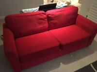 Good quality red sofa bed