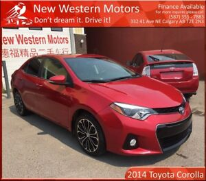 2014 Toyota Corolla S LIGHT HAIL! BCAM! NAV! LEATHER! SUNROOF!