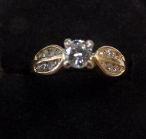 14 KT YELLOW GOLD DIAMOND RING ASKING $625.00 OBO