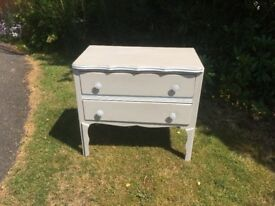 'Shabby Chic' 2 drawers chest of drawers