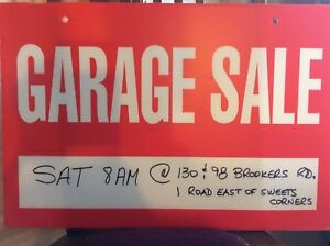 BLOWOUT GARAGE SALES...ONE ROAD EAST OF SWEETS CORNERS....