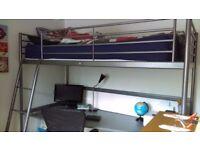 Ikea high sleeper with desk