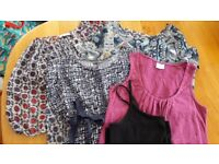 size 14 maternity bundle of tops