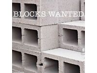 BREEZE BLOCKS WANTED BIRMINGHAM AREA.