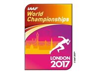 IAAF World Athletic Championships 2017, Olympic Park, Gold Session -6 xAdult, 2 xChild, Mon 7th Aug