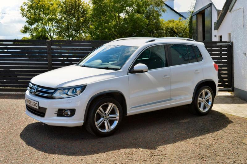 2013 vw tiguan r line tdi 4motion fvsh top spec candy white in ballymoney county antrim gumtree. Black Bedroom Furniture Sets. Home Design Ideas