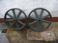 antique cart wheels