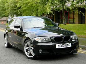 2010 60 BMW 1 SERIES 2.0 120d M Sport 5dr WITH FBMWSH+i-Drive SATNAV+LTHR+PDC+
