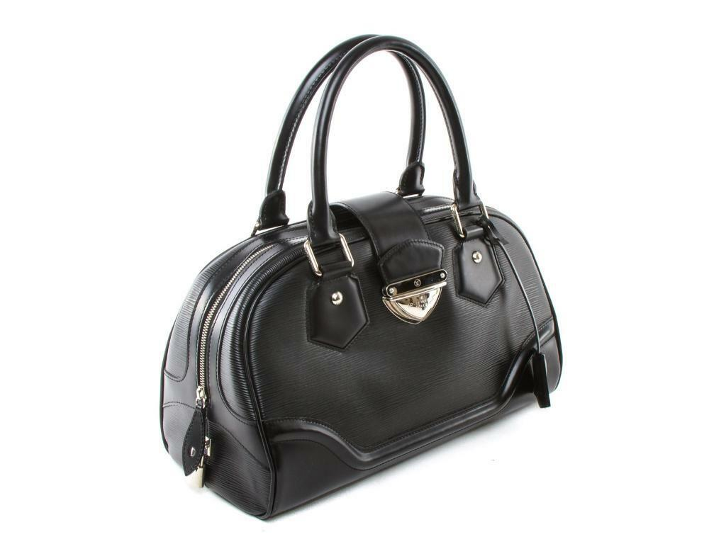 Louis Vuitton Black Epi Leather Bowling Montaigne